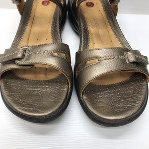 2c44938d5525 Clarks Shoes - CLARKS Unstructured Galleon Bronze Leather Sandals
